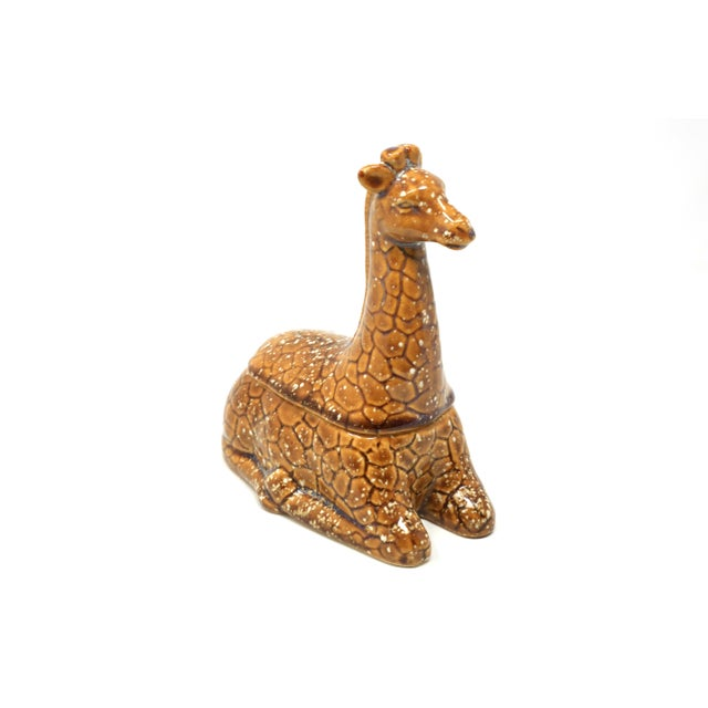 Brown Vintage Giraffe Lidded Dish For Sale - Image 8 of 8