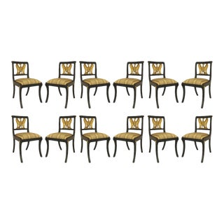 American Federal Gilt Eagle Side Chairs - Set of 12 For Sale