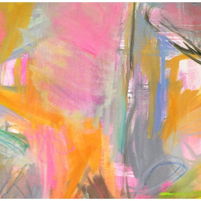 """Abstract """"Midday Miami"""" by Trixie Pitts 36""""x36"""" - Image 2 of 4"""