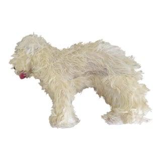 1930s Vintage Stuffed Labradoodle Toy Dog For Sale