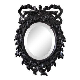 Antique Black Forest German Hand-Carved Mirror For Sale