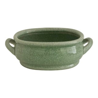 Chinese Celadon Foot Bath Cachepot For Sale