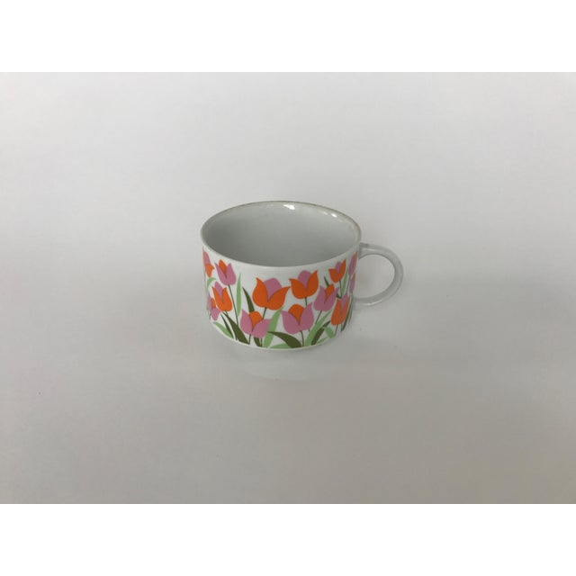 Ceramic Tulip Pattern Coffee / Tea Cup - Image 3 of 5