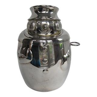 Silver Plate Snowman Ice Bucket