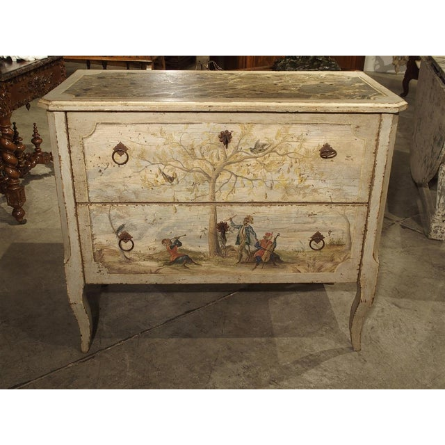 Antique Painted Commode From Italy, 19th Century For Sale - Image 11 of 13