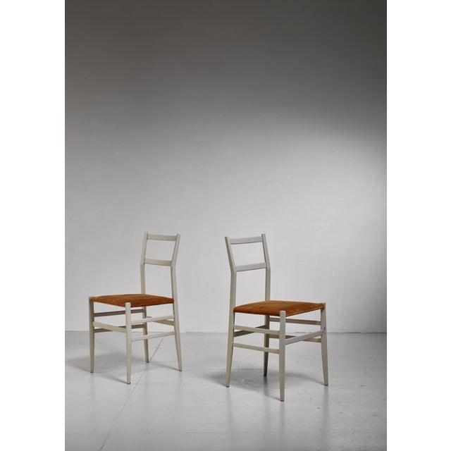1950s Gio Ponti Pair Rare Grey Leggera Chairs, Italy, 1950s For Sale - Image 5 of 5