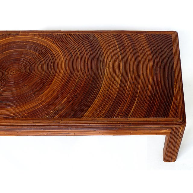 Mid 20th Century Pencil Reed Mid-Century Modern Coffee Table in the Style of Gabriella Crespi For Sale - Image 5 of 11