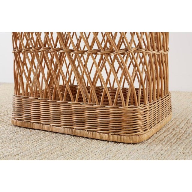 McGuire Organic Modern Rattan Wicker Coffee Cocktail Table For Sale - Image 9 of 13