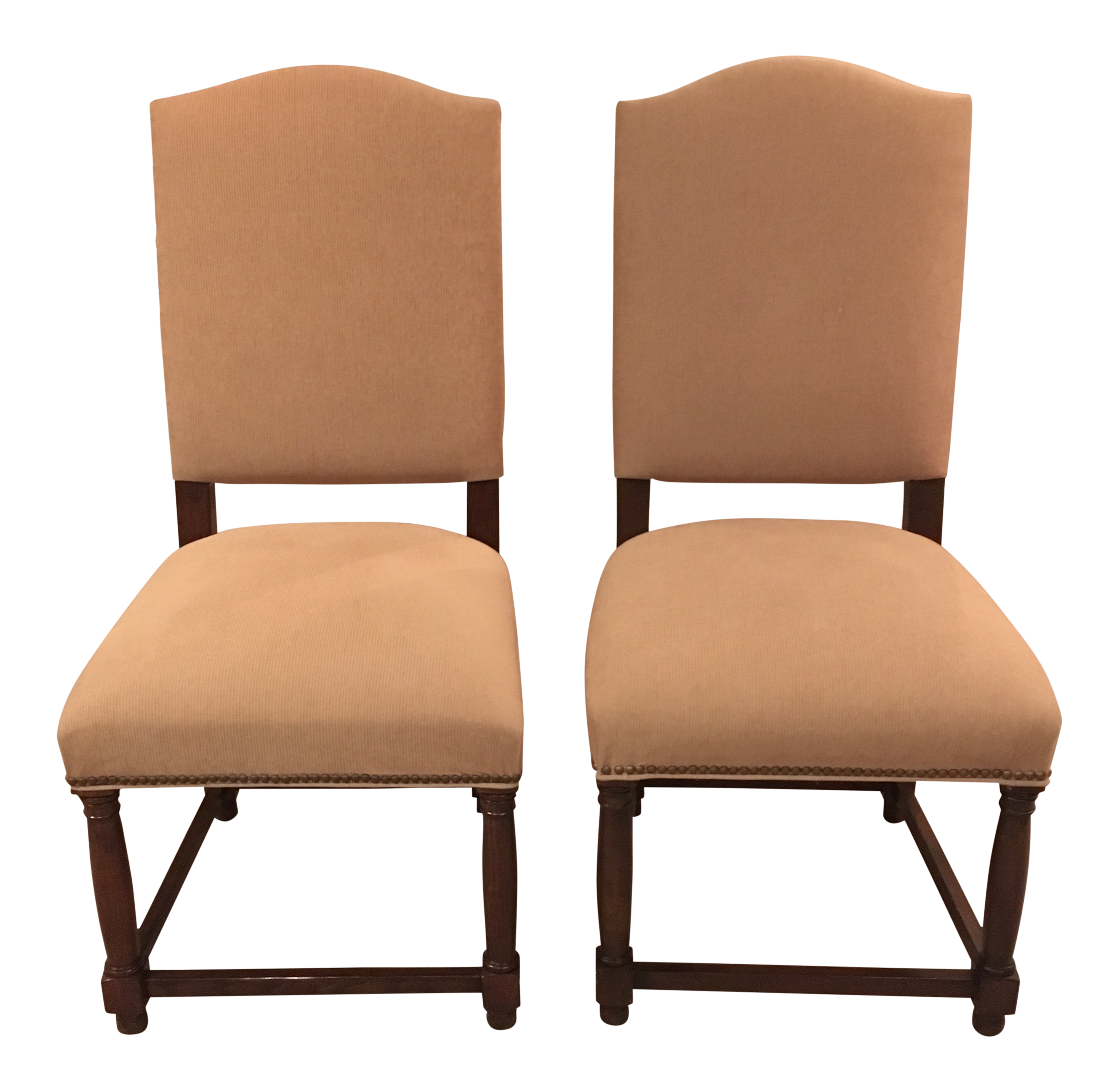 Restoration Hardware Empire Camelback Side Chairs a Pair