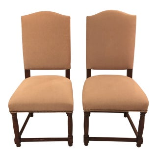 Restoration Hardware Empire Camelback Side Chairs - a Pair For Sale