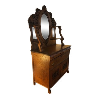 Late 19th Century RJ Horner Oak Griffin Buffet For Sale