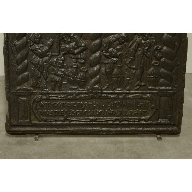 16th Century Unique 16th Century Antique Fireback, Biblical Wine Feast For Sale - Image 5 of 6