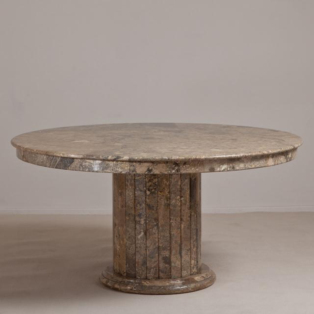 Marble A Large Italian Circular Marble Centre Table 1980s For Sale - Image 7 of 7