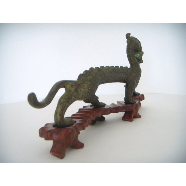 Chinese 'Running Dragon' on Rosewood Stand - Image 3 of 6