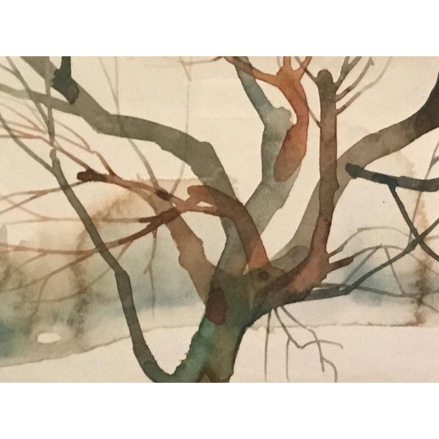 Winter Tree Watercolor Painting - Image 2 of 2