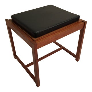 1960s Danish Modern Erik Buch for O D Mobler Flip Top Stool For Sale