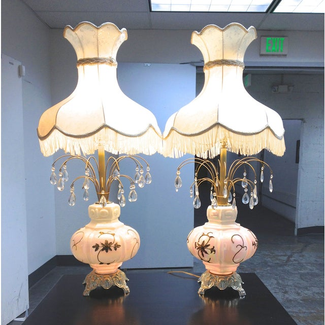 Fabulous Italian Victorian Lamps - a Pair - Image 2 of 7