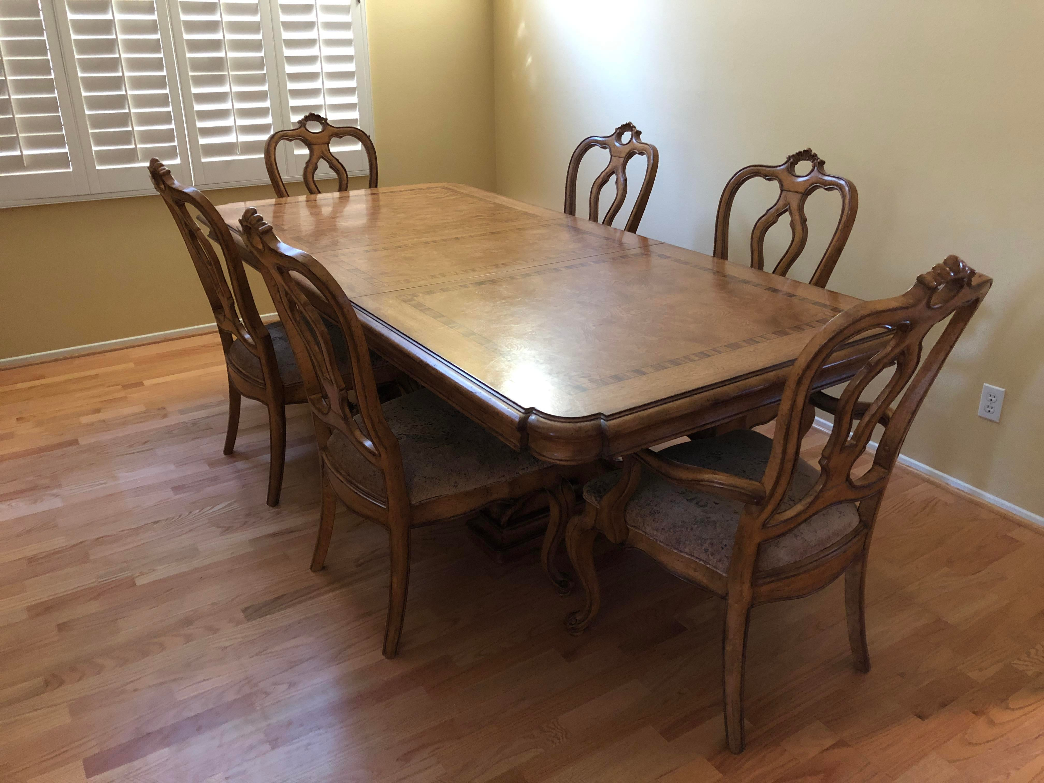thomasville dining table bibbiano trestle dining table and rh chairish com thomasville dining table and hutch thomasville dining table prices