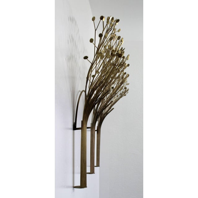 Mid-Century Modern 1970s Mid-Century Modern Brass Three Tree Wall Sculpture by Curtis Jere For Sale - Image 3 of 7