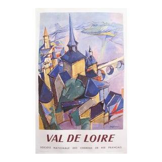 1959 Original French Sncf Travel Poster, Val De Loire