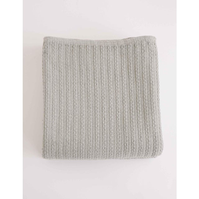 Cableknit Blanket in Grey, Twin For Sale - Image 10 of 10