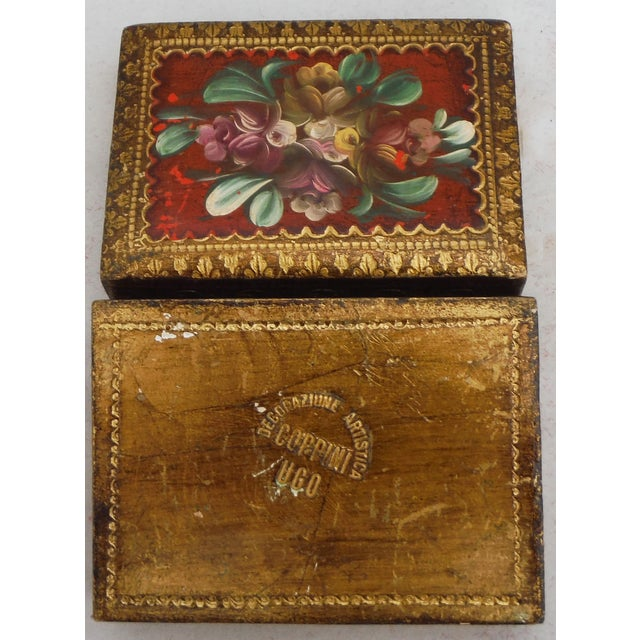Florentine Red & Gilded Wood Box - Image 5 of 5