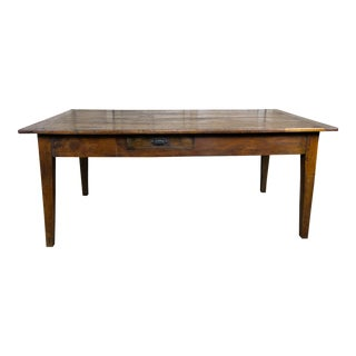 19th C. English Cherry Wood Tea Table