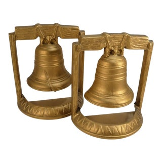 20th Century American Patriotic Liberty Bell Bookends - a Pair For Sale