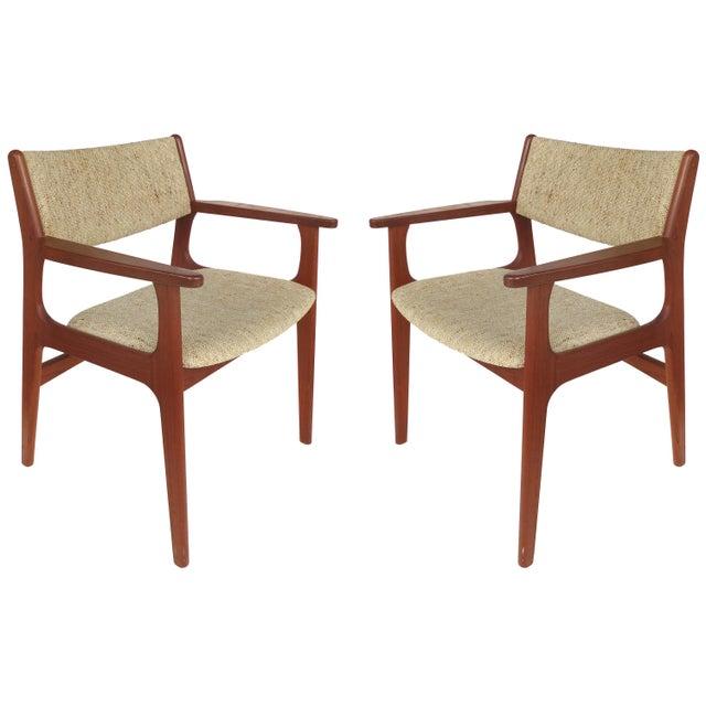 Scandinavian Modern Teak Armchairs - a Pair For Sale - Image 13 of 13