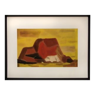 Vintage Mid-Century Lynn Wolfe Untitled Painting For Sale