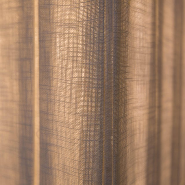 Walnut and Brushed Aluminum Floor Lamps - Pair - Image 6 of 6