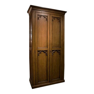 English Gothic Armoire For Sale