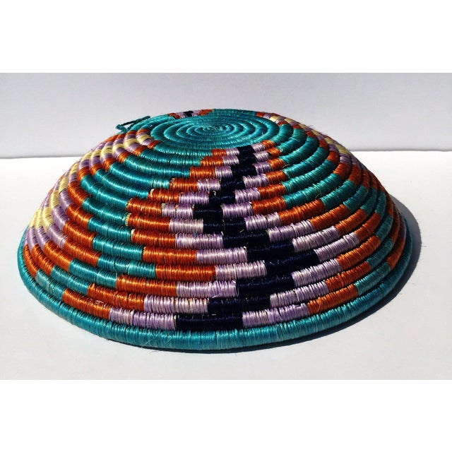 """This perfect center piece Rwanda basket, African basket, Boho basket made of sweet grass and sisal. It can be used as..."