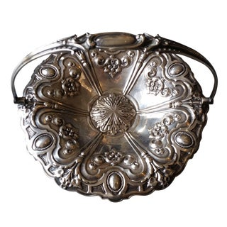 Silver-Plate Server Handled Bowl Basket