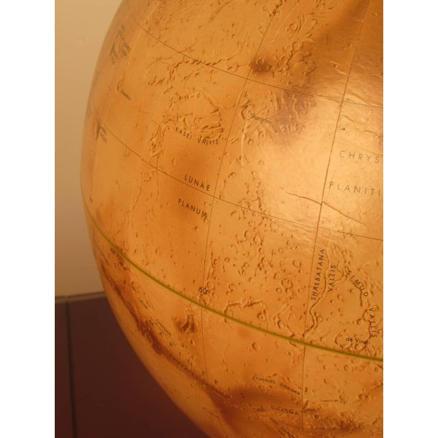 Red 1973 Denoyer-Geppert Rare First Edition Mariner 9 Mars Globe For Sale - Image 8 of 9