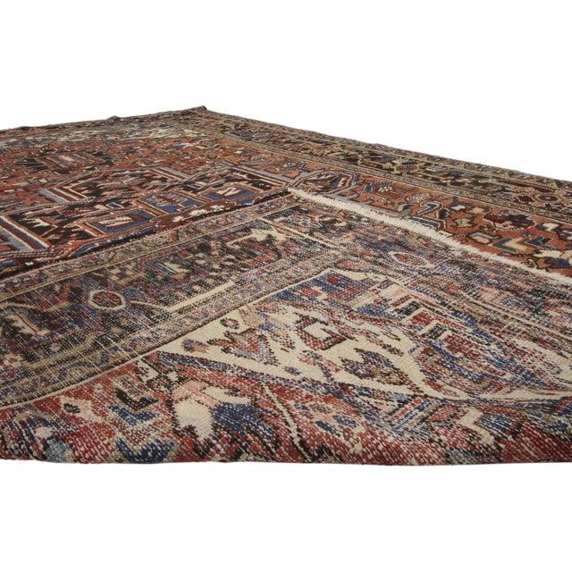 Vintage Persian Heriz Rug- 7′5″ × 10′9″ For Sale - Image 4 of 6