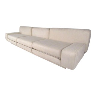 Vintage Milo Baughman Style Modern Sectional Sofa For Sale