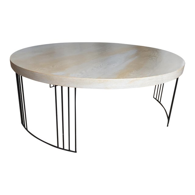 Round Coffee Table Standard Size: Grey & Brown Round Coffee Table
