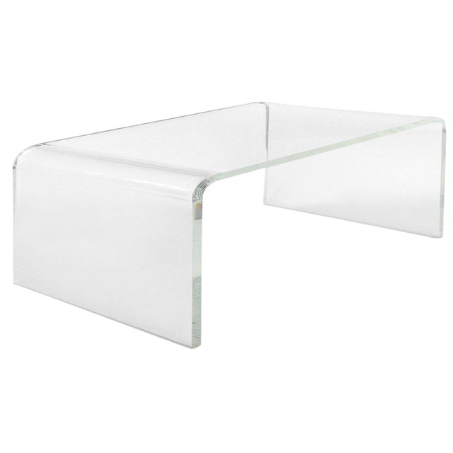 Modern Waterfall Coffee Table For Sale