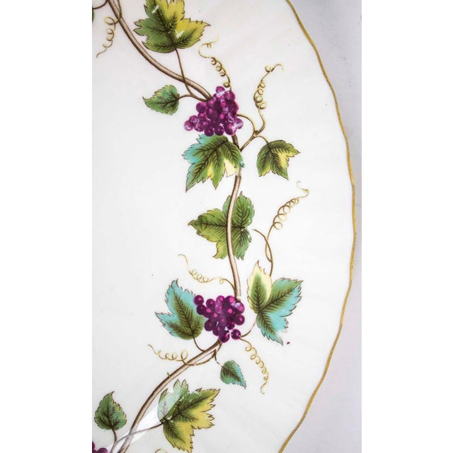 Large Royal Worcester serving platter in the delightful Bacchanal (follower of Bacchus) pattern. Grapes & ivy surround the...