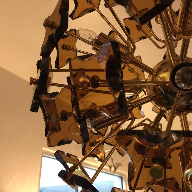 Fontana Arte Sputnik Chandelier Bronze Glass - Image 7 of 8