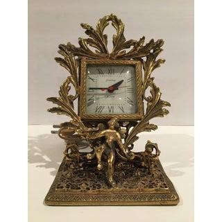 1960s Vintage Guild Crest Ormolu Alarm Clock Preview