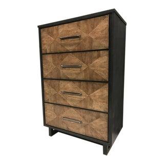 Rustic Modern 4 Drawer Highboy Dresser Chest