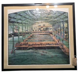 1970s Litho of Original 1900s Photograph of Famous Sutro Baths in San Francisco For Sale