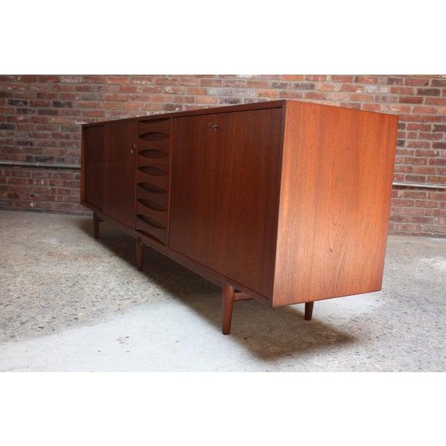Arne Vodder Teak Credenza with Reversible Doors For Sale - Image 10 of 11