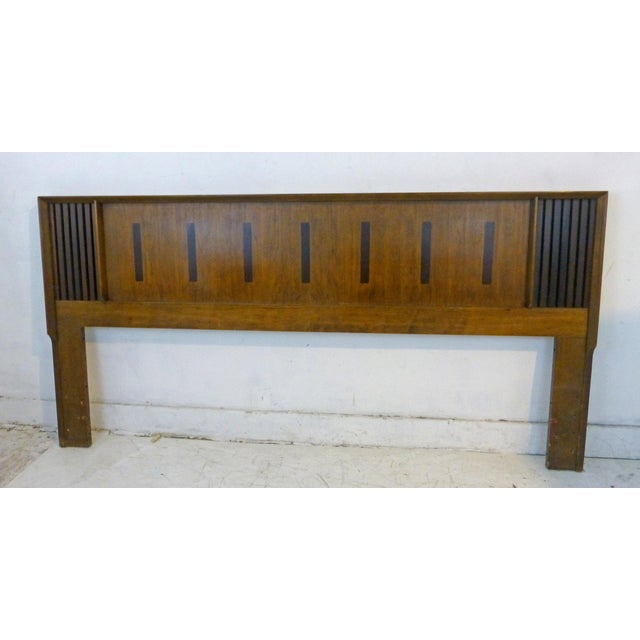 Vintage Lane King Size Ribbed Walnut and Rosewood Headboard Hard to Find - Image 9 of 10