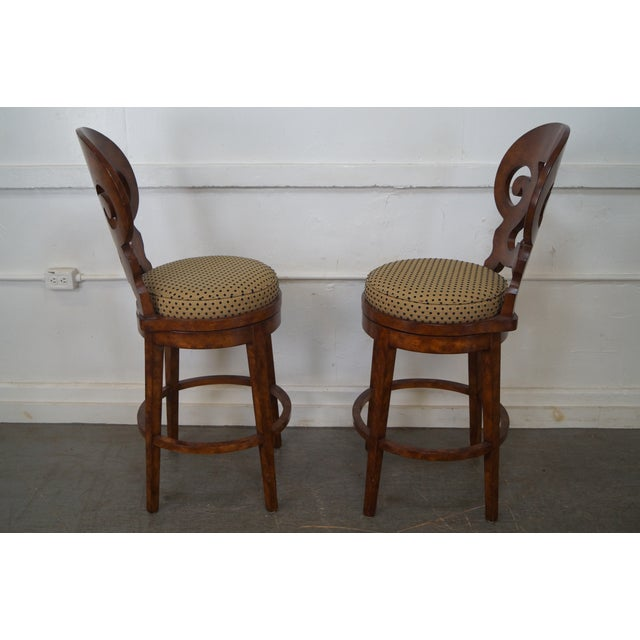 Biedermeier Style Swivel Bar Stools - A Pair - Image 3 of 10