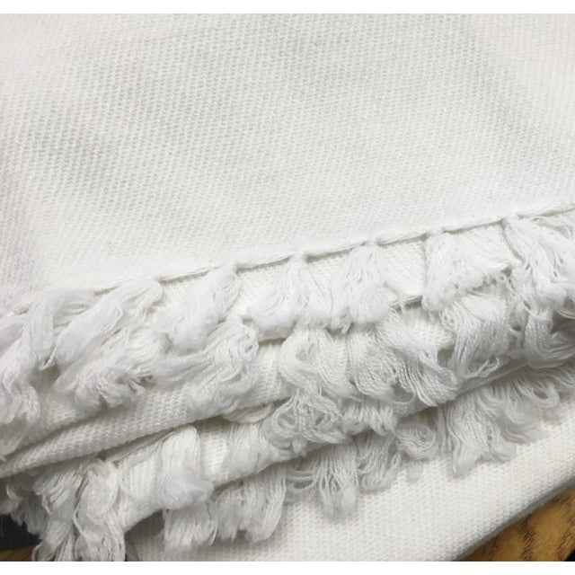 White Cashmere Blanket With Tassels - Image 10 of 11