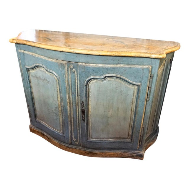 18th Century Italian Painted Credenza For Sale - Image 10 of 10