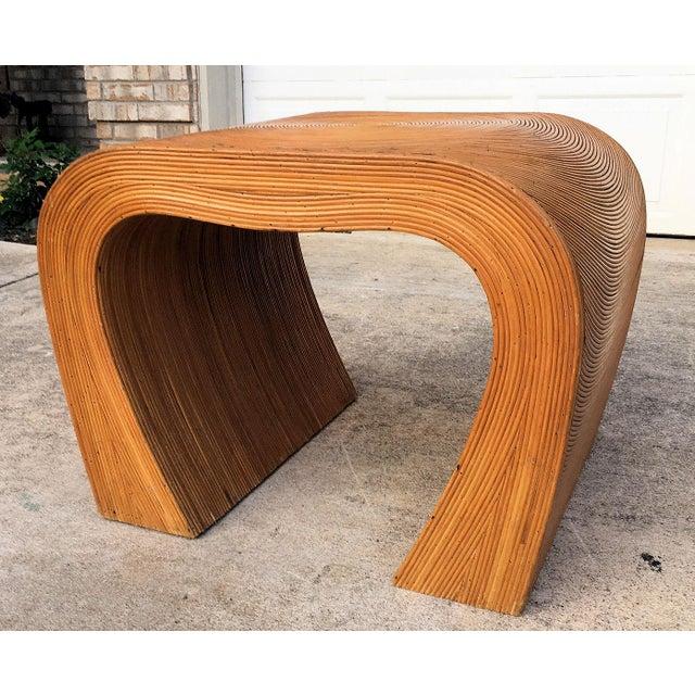 Vintage Split Reed Side Table For Sale In Austin - Image 6 of 6